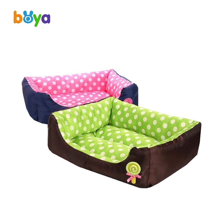 Boya Dot Pet Nest Lollipop Kennel Super Soft Cat Litter Dog Bed Teddy Waterproof Surface pet bed Mat Cat pad Pet product