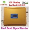 900 / 1800 mhz dual band sinal de celular impulsionador + lcd! Telefone celular GSM DCS dual band repetidor de sinal, Amplificador de sinal GSM