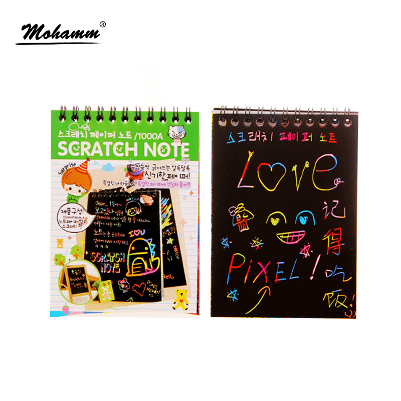1 Pcs Cute Agenda Diary School Supplies Note Book Paper DIY Doodling Magic Scratch Painting Book Notebook Stationary For Kids