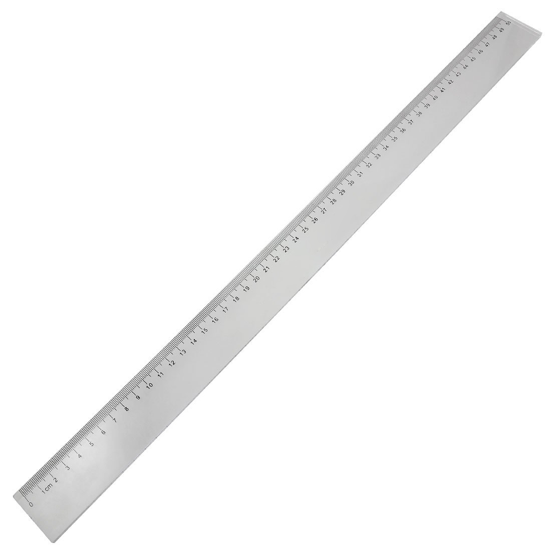 2 PCS Of 50cm Clear Plastic Measuring Long Straight Centimeter Ruler