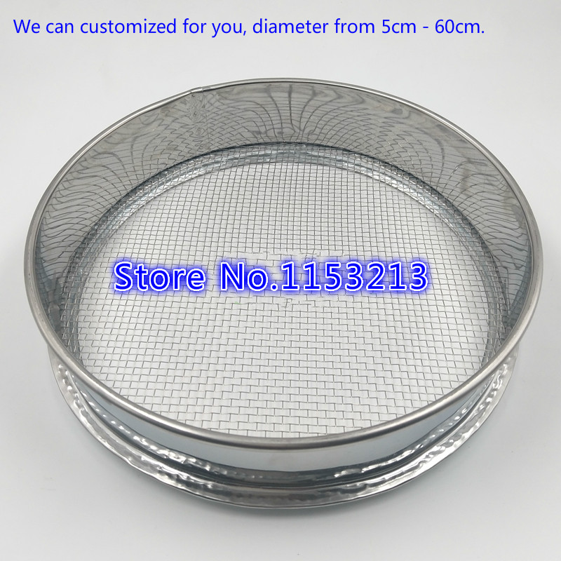 R40cm Aperture 1.6/1/0.8/0.6/0.5/0.4/0.3/0.2mm Standard Laboratory Test Sieve Sampling Inspection sieve Pharmacopeia sieve H7cm r20cm aperture 0 002mm 304 stainless steel standard laboratory test sieve sampling inspection pharmacopeia sieve