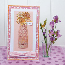 YaMinSanNiO Flower Bouquet Metal Cutting Dies for Craft Scrapbooking Card Making Die Cut Album Embossing Decor