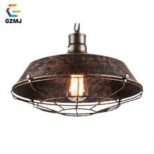 Lámparas colgantes clásicas decoración Industrial GZMJ, cubierta de olla de óxido, lámpara colgante de hierro Retro Para Bar, restaurante, decoración del hogar