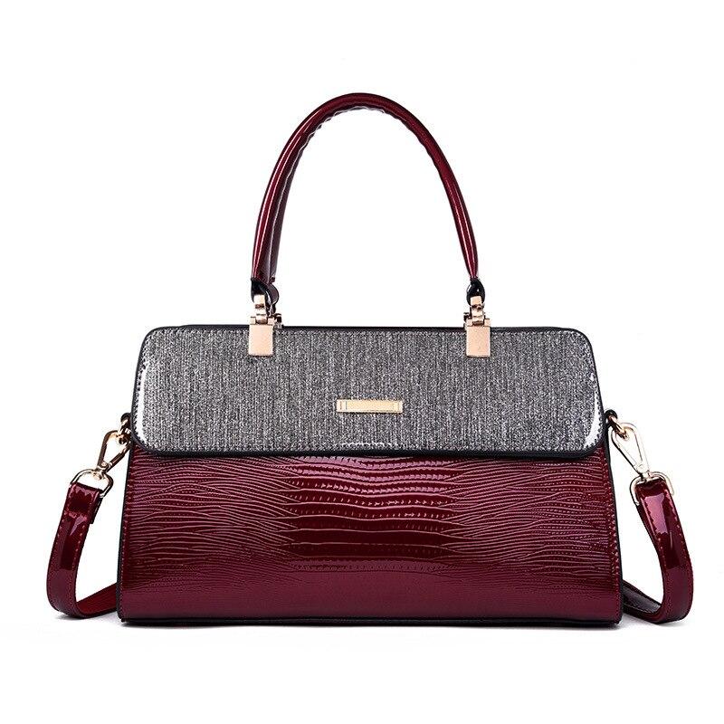 ab5c01eef846b Mädchen gold Taschen Weibliche Handtaschen Design blau Frauen Patent marine  Damen Mode Europäischen 2019 Marke Neue tasche schwarzes blackish Schulter  ...