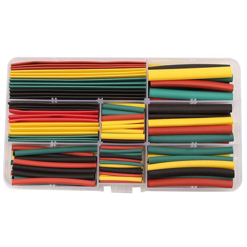 180 pièces 2:1 polyoléfine thermorétractable thermorétractable Tube fil câble gaine sans halogène thermorétractable Tubes 8 taille avec boîte