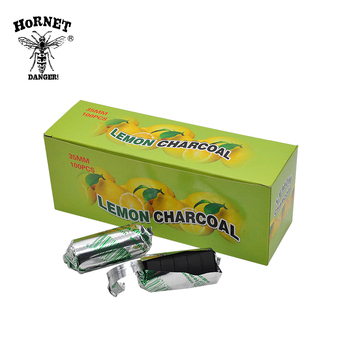 20Rolls/Box Lemon Flavored Hookah Charcoal Shisha Hookah Charcoal Quick-lighting Burn Even Lasting Long Flavored Charcoal