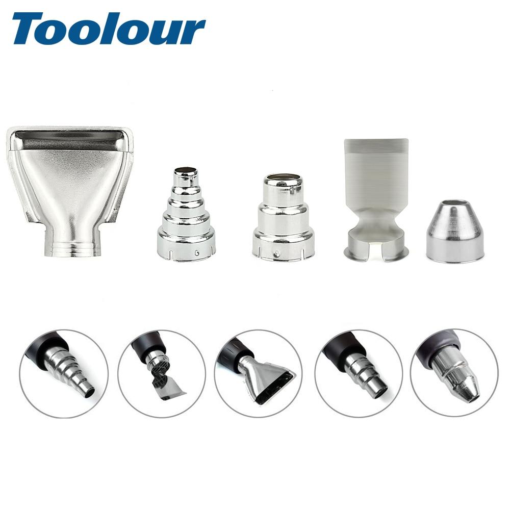 Toolour 5pcs/set Heat Gun Nozzles Electric Kit Heat Air Guns Nozzles Hot Air Gun Accessories Diameter 354mm For DIY Shrink Wrap