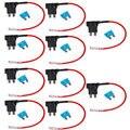 Apoyo 10 Unids EE 12 V Estándar Agregar Un Circuito Fusible Tap Piggy Back Hoja Holder Enchufe Coche XY01
