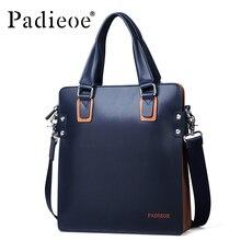 Padieoe Fashion Luxury Designer Brand Men Bag Genuine Leather Handbag Business Male Shoulder Messenger Bags