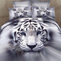 2017 New 100% Cotton 3D stereoscopic Animals Luxury Four Bedding Set Floral Duvet cover Full/Queen/King size Bedspread Bed linen