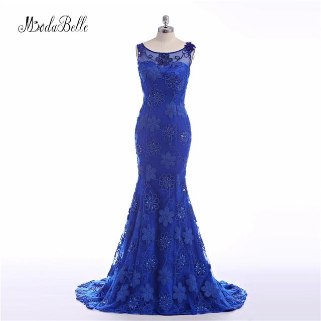 d2fb78ef3a8b modabelle Long Royal Blue Evening Dresses Flower 2017 Modest Evening Gowns  Formal Night Dresses for Women Vestido Largo Noche