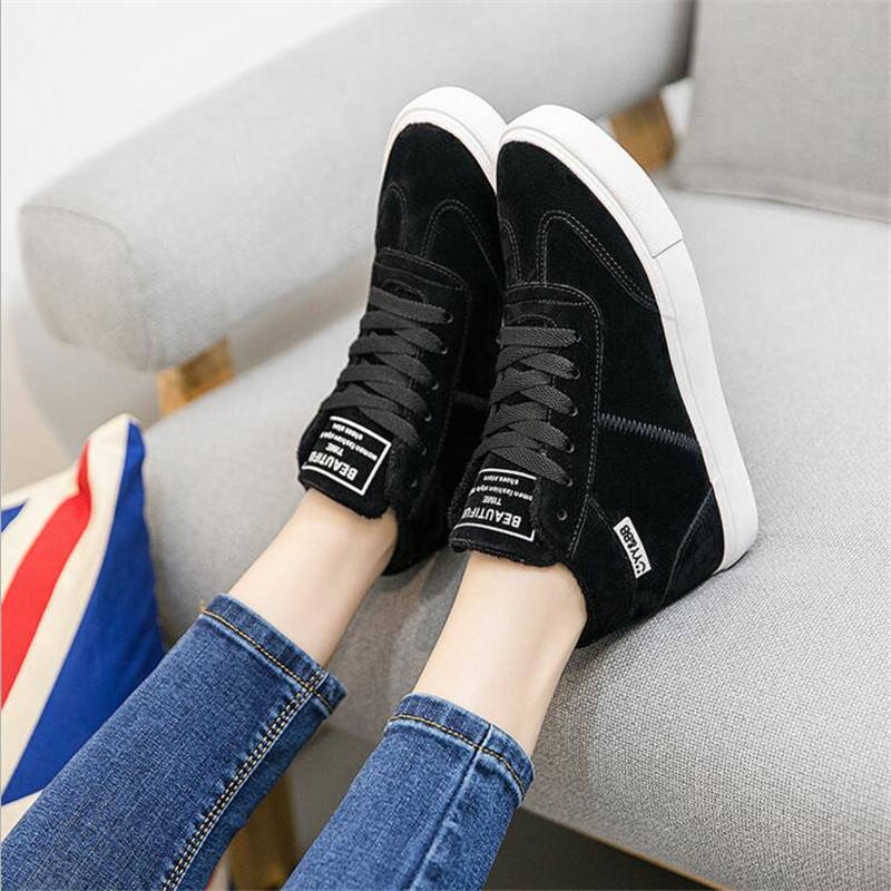 2016 Warm Women s casual Shoes Snow font b Boots b font Leather font b Boots