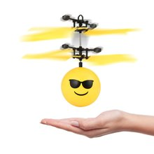 Colorful Flyings RC Toy EpochAir RC Flying Ball Drone Helicopter Ball Built-in Shinning LED Lighting for Kids Teenagers(China)