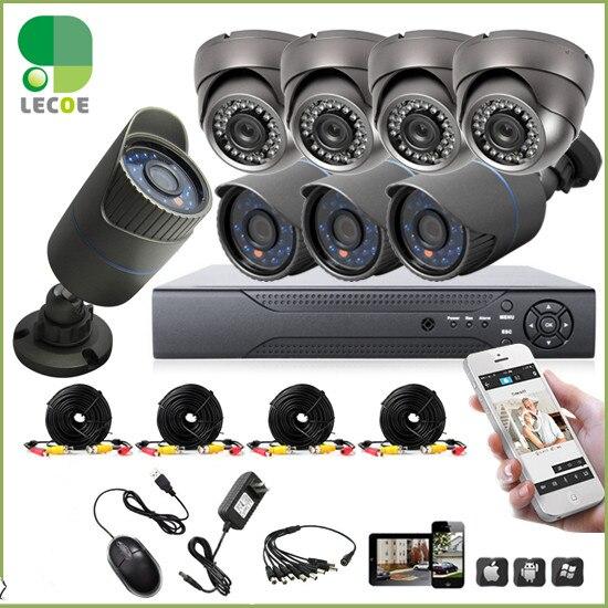 8CH 960H DVR 8PCS 1200TVL Outdoor Weatherproof CCTV Camera Home font b Security b font Camera
