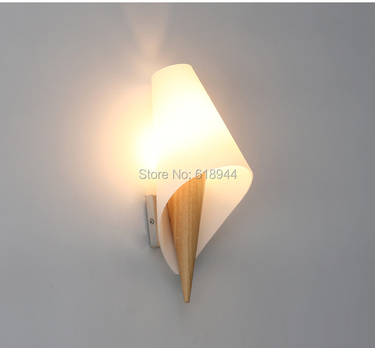 ФОТО Chinese Type Wood LED Wall Light Modern and Brief Dinning Room Living Room Hotel Corridor Wall Lamps