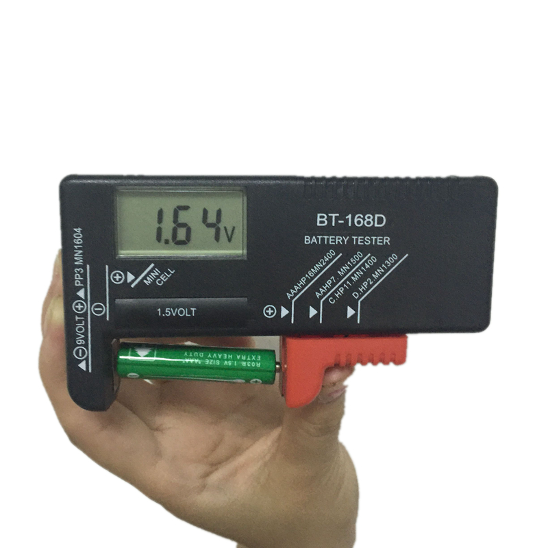 Electronic Battery Tester : Smart lcd digital battery tester bt d electronic