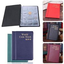 10 páginas coloridas monedas libros de álbum PU mundo albúm de monedas caja de libro colección Almacenamiento de recogida de monedas 120/180 bolsillos