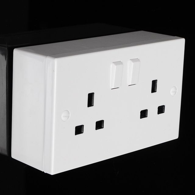 Online Shop Double Plug Socket Imitation Storage Box Bin Wall