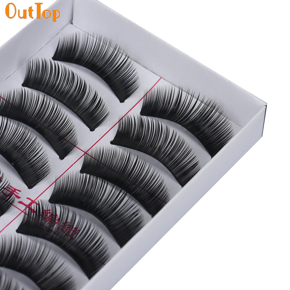 8db035b36eb OutTop ColorWomen 10Pairs Natural LongThick Dense False Eyelashes Women  Fake Eye Lashes Beauty Makeup 160916 Drop Shipping