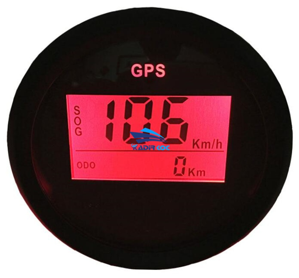 Pack of 1 52mm Digital GPS Speedometer Gauges 0-999 LCD Speed Odometers SOG COG Trip Mileometer with Red Backlight for Auto Ship 1pc 85mm auto gps speed odometers trip meters cog 0 200km h waterproof gps speedometer indicators with 8 kinds backlight color