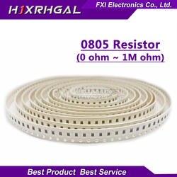 100 шт. 0805 SMD 1/4 W 0R ~ 10 м резистор проволочного чипа 0 10R 100R 220R 330R 470R 1 K 4,7 K 10 K, 47 (Европа) K 100 K 0 10 100 330 470 Ом