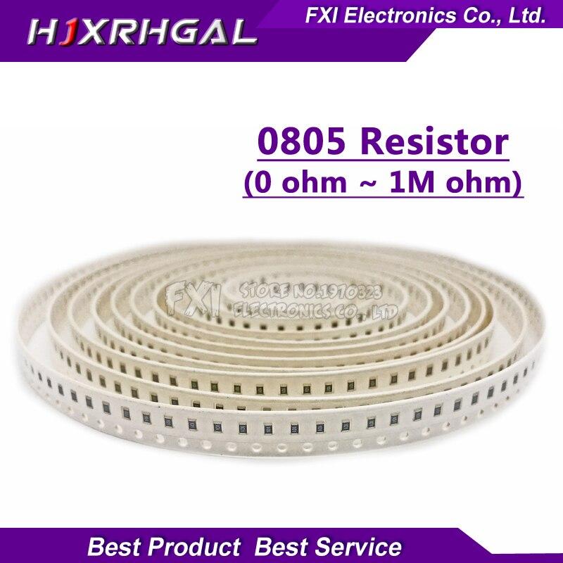 100 Pcs 0805 SMD 1/4 W 0R ~ 10 M resistore del circuito integrato 0 10R 100R 220R 330R 470R 1 K 4.7 K 10 K 47 K 100 K 0 10 100 330 470 ohm