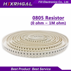 100 pces 0805 smd 1/4 w 0r resi10 m chip resistor 0 10r 100r 220r 330r 470r 1 k 4.7 k 10 k 47 k 100 k 0 10 100 330 470 ohm