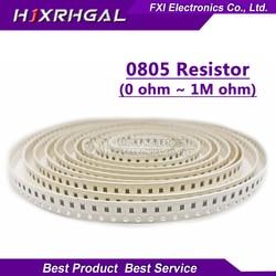 100Pcs 0805 SMD 1/4W 0R ~ 10M chip resistor 0 10R 100R 220R 330R 470R 47 10 1K 4.7K K K 100K 0 10 100 330 470 ohm