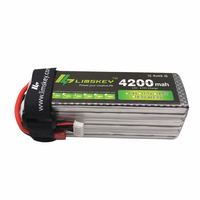 Limskey Power 22.2V 4200MAH Lipo Battery 30C For remote control helicopter and RC Car 6S Lipo 22.2 V 4200 mah T/XT60 Plug