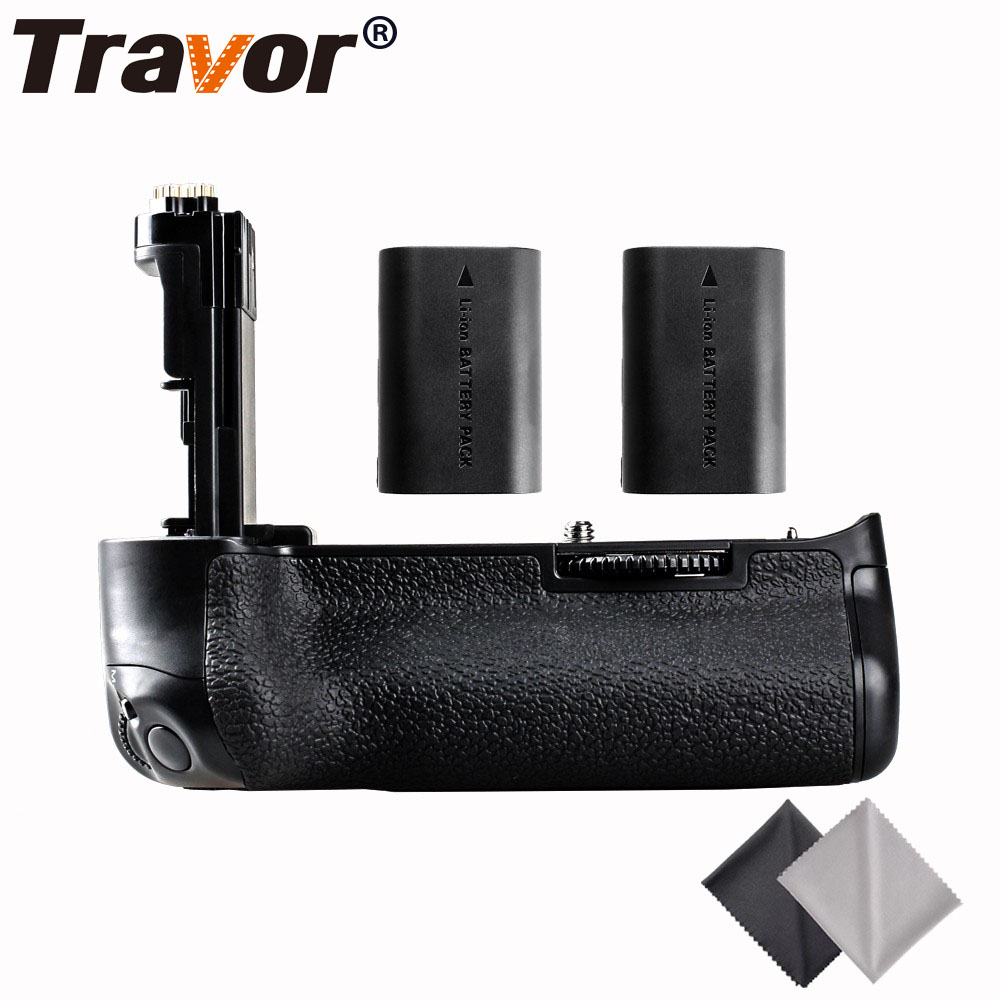 Travor Multi Power Battery Grip for Canon 5D Mark III 5D3 5DS 5DSR cameras as BG-E11 +2pcs LP-E6 batteries+2pcs Lens Cloth camera battery grip pixel bg e20 for canon eos 5d mark iv dslr cameras batteries e20 lp e6 lp e6n replacement for canon bg e20