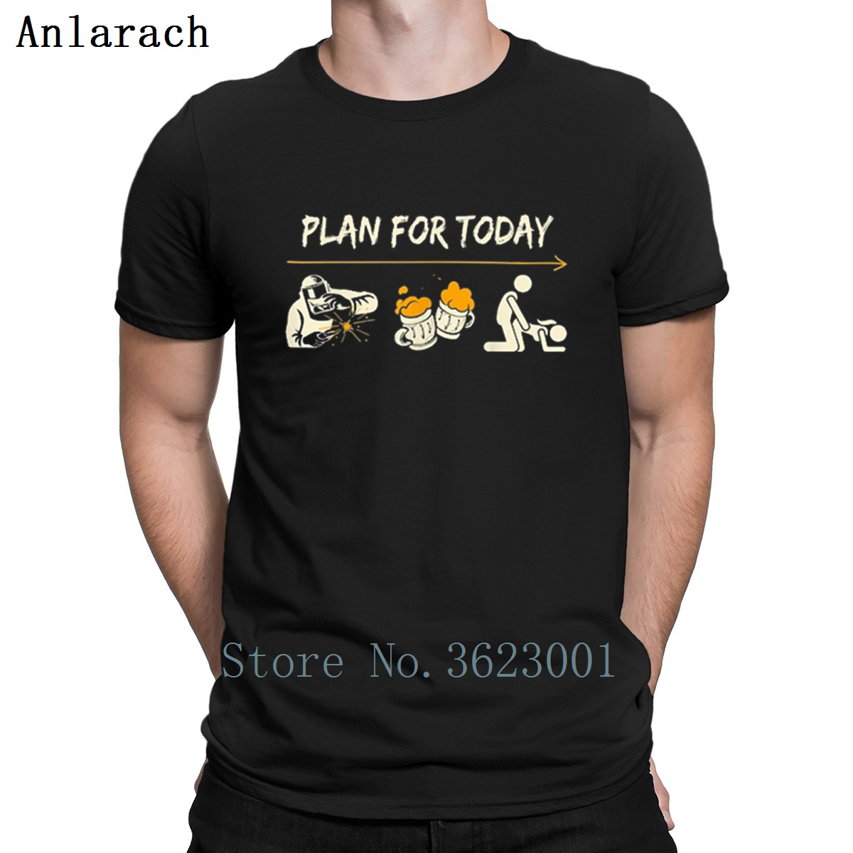 Plan For Today Welder Beer Sex Funny Shirt T Shirt Famous Pictures Tee Shirt Spring Unique S-Xxxl Customized Comfortable Shirt