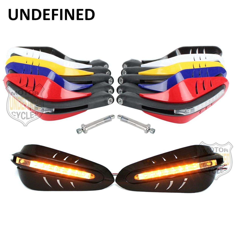 Motorcycle Parts 1Pair 22mm Dirt Bike LED Brush Bar Hand Guards Handguard Protectors For Honda Yamaha
