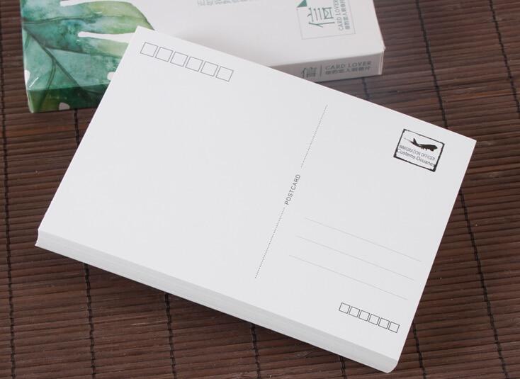 Plain Blank White Postcard Blank Postcards Card Stock Greeting Post Cards 10/50/100pcs