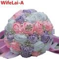 Мультик Размера Кристалл Искусственные Свадебные Букеты Белый Розовый Фиолетовый Лента Цветы Сияющий Алмаз Свадебный Холдинг Букет W224A