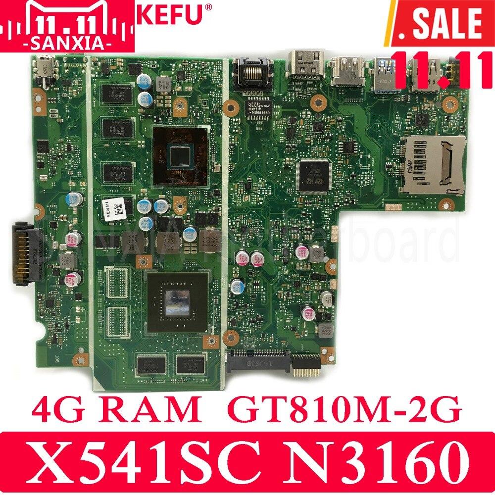 купить KEFU X541SC Laptop motherboard for ASUS X541SC X541SA X541S X541 Test original mainboard 4G RAM N3160 CPU GT810M-2G онлайн