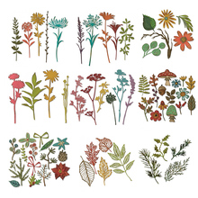 2019 New Woodland Leaves Wildflowers Metal Cutting Dies for DIY Scrapbooking Embossing Decorative Crafts Supplies Cards Making
