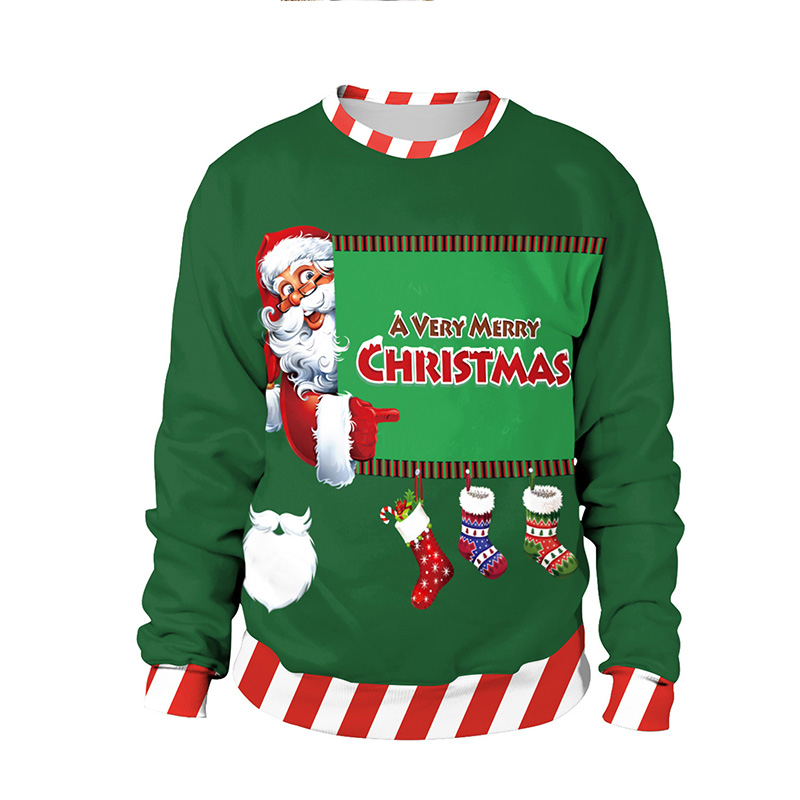 Kersttrui Funny.Kerst Trui 3d Unisex Men Women Ugly Christmas Sweater Vacation Santa