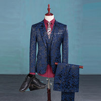 Bán Hot Thời Trang Wedding Groom Suits Tỏa Sáng Mẫu Sang Trọng Người Đàn Ông Giản Dị Quần Áo Sân Khấu Mens Cổ Điển Phù Hợp Với Rễ Phụ Suits