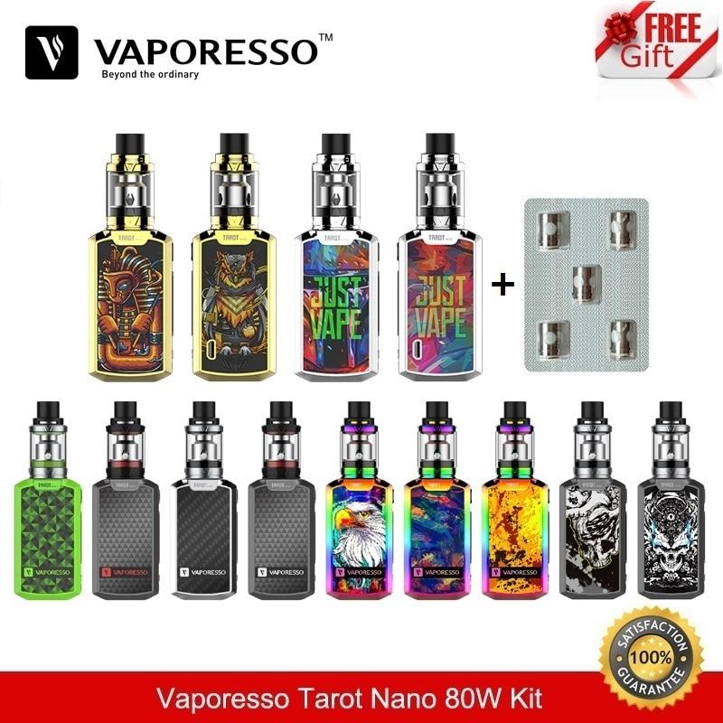 Cigarette Electronique Vaporesso Tarot Nano 80W TC Box Mod with VECO Vape Tank 2ML with EUC Coil 2500mah Vaporizer VS Smok Alien цена