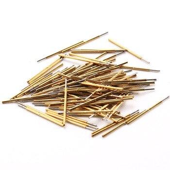 цена на 100 Pcs New Hot DIY Metal Probe Needle Length 16.35mm Nickel-Plated Spring Test Probe P50-Q1 For Electric Test Tools 2018