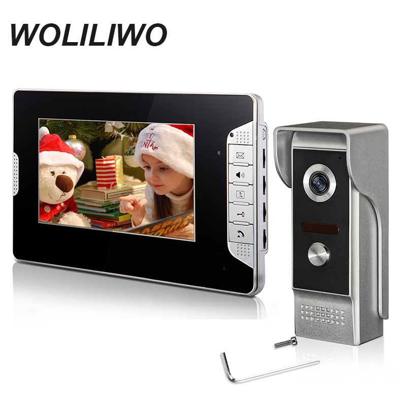 Video Intercom System 7''TFT LCD Wired Video door phone Visual Video Intercom With Waterproof Outdoor IR Camera