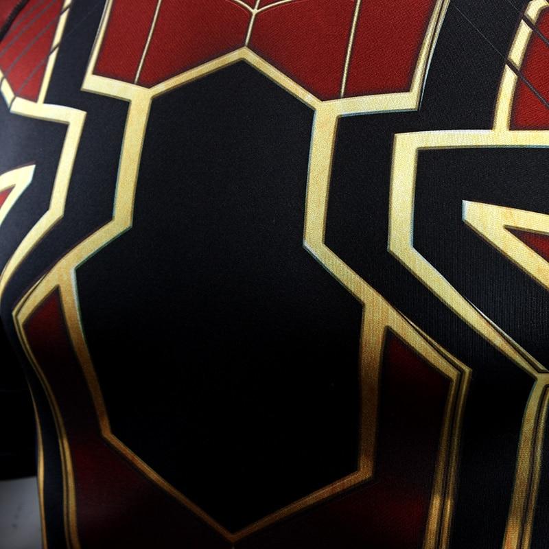 3b5b12d4 Iron Spider Spiderman Avengers Infinity War Suit Raglan Long Sleeve  Compression Training T-shirt