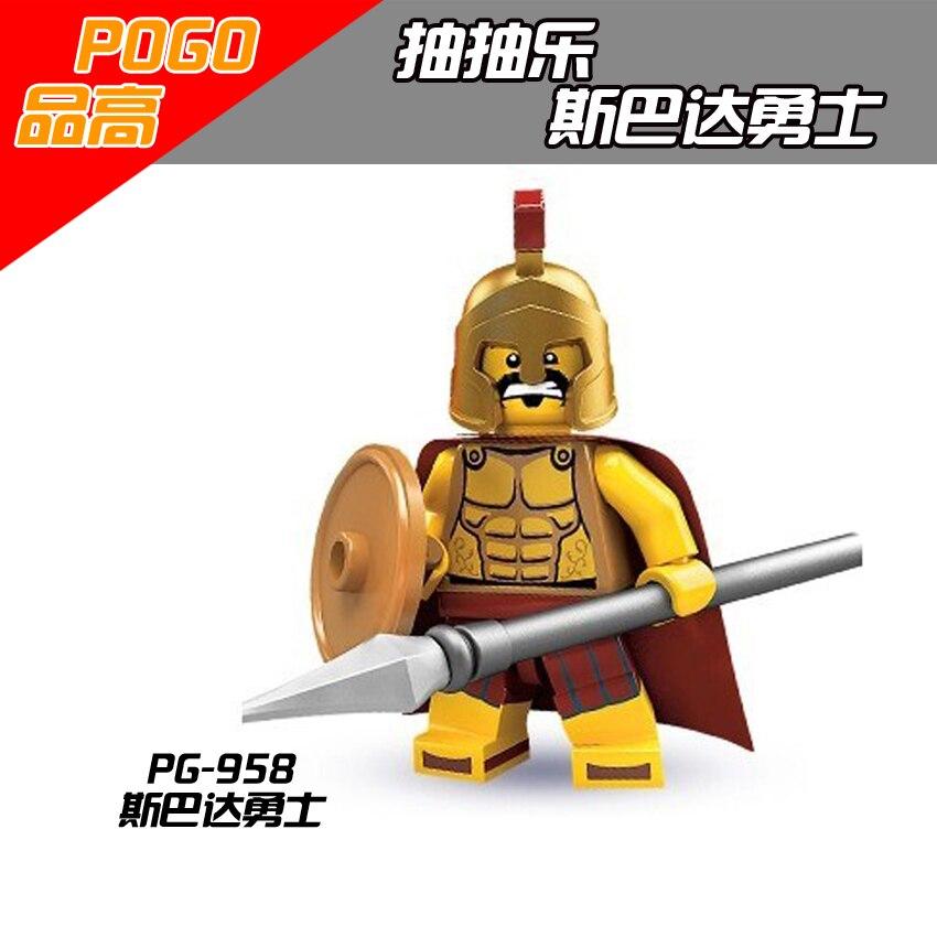 Oyuncaklar ve Hobi Ürünleri'ten Bloklar'de 100 adet POGO PG958 Spartan Mesoid Soldie Kahraman yapı taşları tuğla Eylem En Iyi Hediye bebek oyuncakları'da  Grup 1