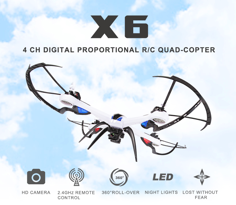 JJRC H16 Tarantula X6 drone with Wide-Angle 5MP 1080P/2MP 720P Camera 2.4G 4CH 6-Axis RC quadcopter with Hyper IOC  yizhan tarantula x6 4 axis rc helicopter drone toy model can add wide angle 5mp or 2 mp camera with long remote distance 300m