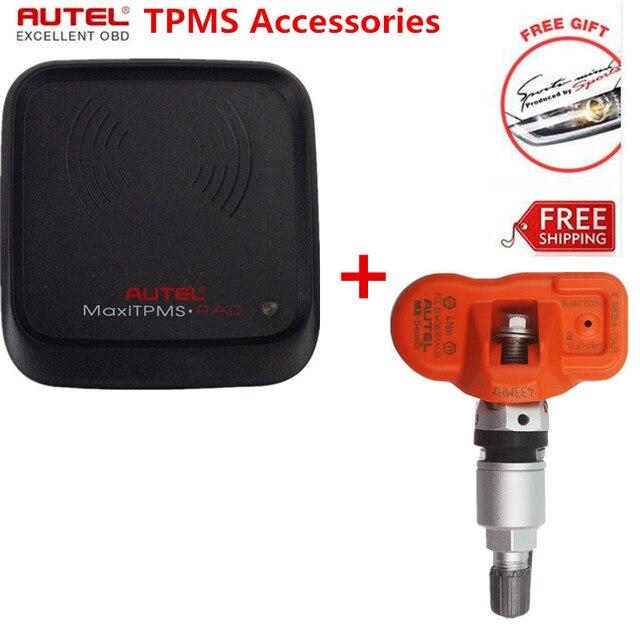 Autel MaxiTPMS PAD TPMS Sensor Programming Tool+Autel MX-Sensor 433MHz Universal Programmable Replacement TPMS Sensor