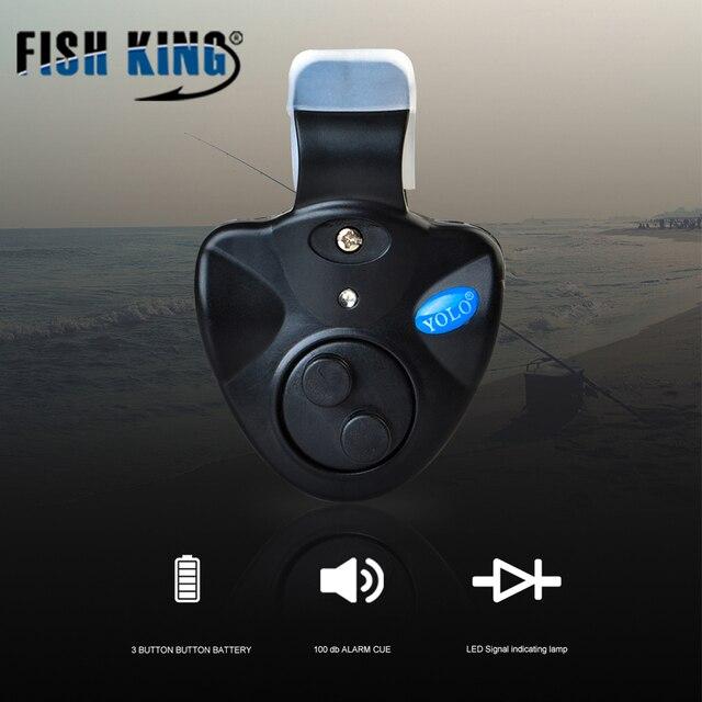 דגי מלך 1 pcs 40g דיג אלקטרוני אור LED דגי Bite קליפ פעמון אזעקת סאונד על חכת דיג שחור להתמודד דיג אביזרים