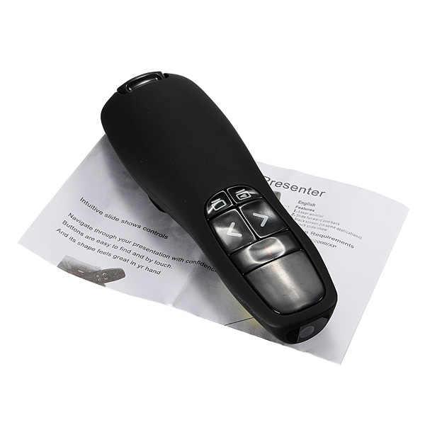 Портативный удобный ручной офисная R400 Беспроводной Presenter приемник указатель дистанционного Управление с ручка с красным лазером Универсальный