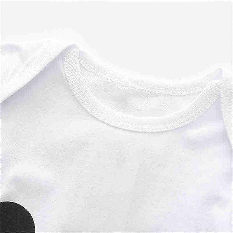 Одежда для маленьких мальчиков; милый детский комбинезон с рисунком панды; Детский комбинезон с короткими рукавами; цвет черный, белый; Одежда для новорожденных; Bebe