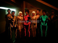 The Skeleton Luminous Costume Dance Costume LED Costume LED Robot Suits LED Dress Size Color Customized