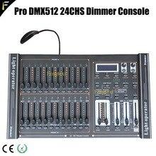 24 kanäle DMX 512 Dimmen Konsole Intelligente Dimmer Controller Tisch Mit LED Beleuchtung Für Zeigen Erschwinglichen Freies Verschiffen